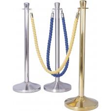Barijere-obeležavači prostora-stubovi-trake-konopci-veze